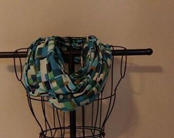 Fabric Infinity Scarf Multicolor Geometric