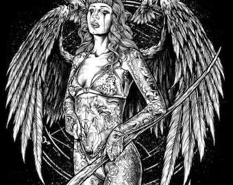 Dark angel skateboard deck