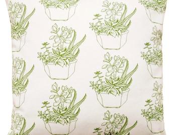16x16 succulent plant pillow