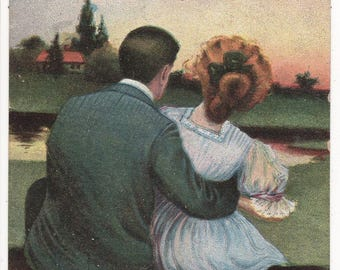 GLAMOUR, Romantic Couple, Vintage Comic Postcard, DOCTORS ORDER, c1910