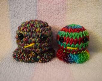 Rainbow Mini Octopus Buddies,  Amigurumi, Kawaii Styled Stuffed Toy , All Ages , Decoration