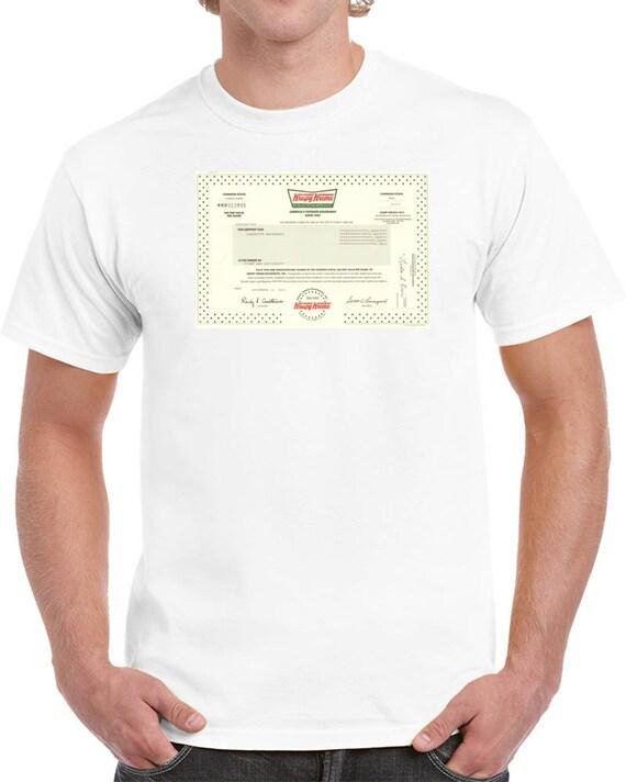 Krispy Kreme Doughnuts Stock Certificate T Shirt