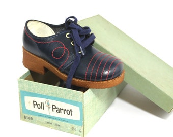 Vintage Children's Shoes Never Worn Size 10 Color 'Lariat Blue'