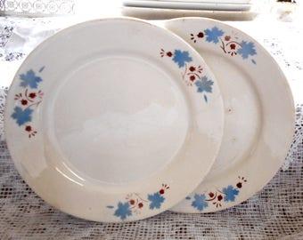 Vintage soviet dishes Two retro dinner plate Retro 1970s plate Soviet retro plates Retro dinnerware Ussr platse Retro russian plate