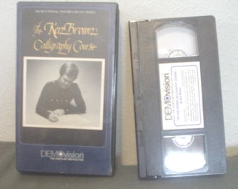 Vintage The Ken Brown Calligraphy Course Demovision Instructional Non-Broadcast Series 1 Hour Teaches his method DA-601 1983 Artistry EC BIN