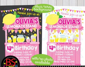 Lemonade Birthday Invitation, Lemonade Stand Invitation, Lemonade Party Invitation, Pink Lemonade Birthday Invitation, Lemonade Invite