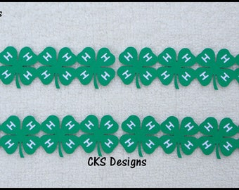 Die Cut BORDER 4-H Clovers 4H Club Scrapbook Page Borders Embellishment Paper Piecing