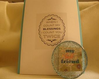 gift card set, friend gift, best friend magnet, best friend gift, friend decor, best friend items, friend items, birthday gift, friend,(164)