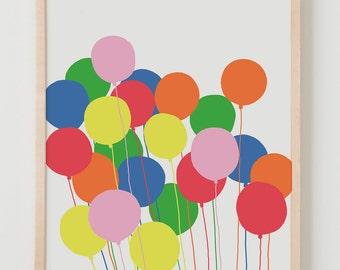 Fine Art Print. Balloons. August 21, 2011.