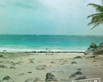 Tulum Beach Seascape, International Travel Mexico, 8x8 10x10 12x12 20x20 Fine Art Photograph