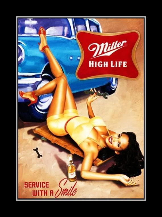 Bar Poster Gift Beer Pin up Wall Art Mens Gift Man Cave
