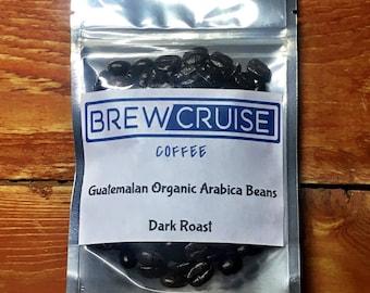 Fresh Roasted Small Batch Guatemalan Arabica Whole Roasted Coffee Beans Dark Roast 2oz Sample