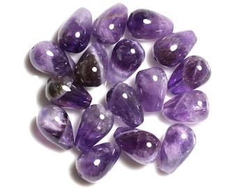 2PC - stone beads - Amethyst drops 16x10mm - 4558550037800