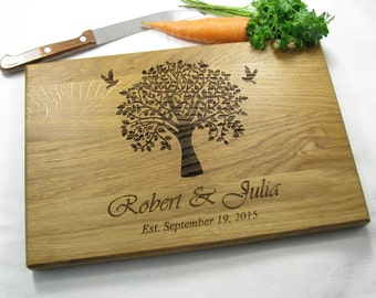 WEDDING GIFT Personalized Cutting Board Wedding Gift for couple Family Tree Cutting Board Love Tree Custom Engraved Wedding Cutting Board