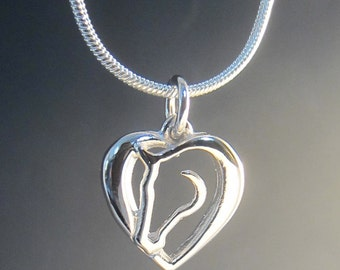 Small Hearts and Horses Necklace