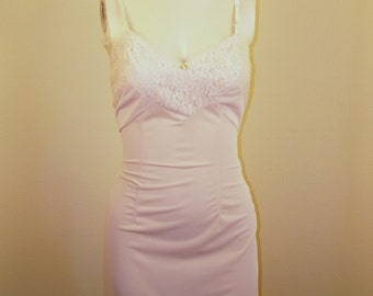 Womens non Stretch Cotton Slip 1960s