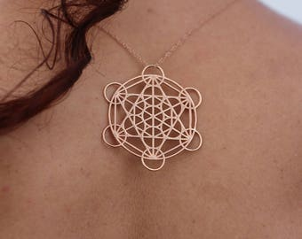 Large Metatron Grid Pendant