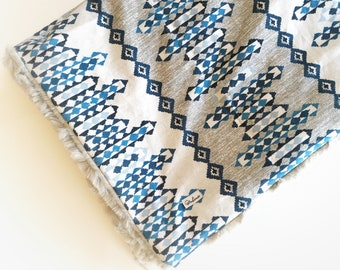 Boho Baby-Decke - Wald Minky Decke / Tribal Marine Decke / Baby Kinderwagendecke / Baby-Dusche Geschenke Necklace Kindergarten Bettwäsche