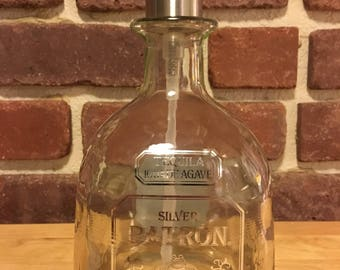 Best Price!Patron Tequila Upcycled Liquor Bottle Soap Dispenser, Stainless Steel Soap Pump, Kitchen, Bathroom, Gift for Him or Her