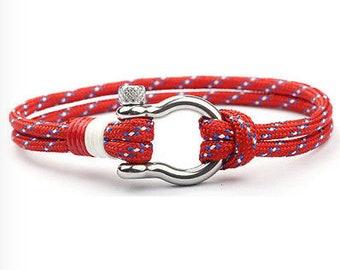 Marine Bracelet Paracord Bracelet Nautical Bracelet Men's Bracelet Gift for Him Rope Bracelet Survival Bracelet Cord Bracelet Father's Day