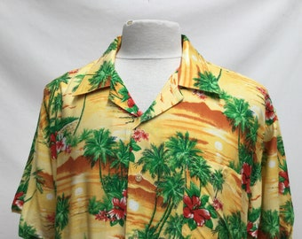 Yellow & Red Hawaiian Shirt