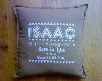 custom birth 50X50cm cushion