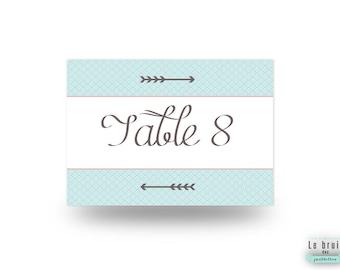 Nom de table graphique et moderne