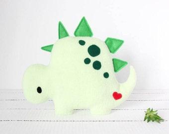 Stegosaurus Plush, Dino Plush, Dinosaur Plush, Dinosaur Stuffed Animal, Dinosaur Toy, Fleece Dinosaur, Baby Shower, Baby Boy, Baby Girl