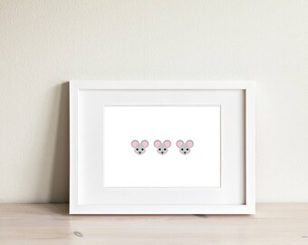 Mouse Emoji Hanging Art - Digital Download
