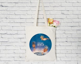 Organic Tote Bag. Catstronaut