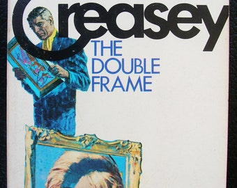 The Double Frame - by John Creasey - 1971 Edition Vintage Pulp Paperback - Mystery Suspense Crime Novel