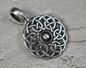 Pewter pendant, lead free, 28mm + 10mm bail, #290