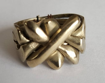 Silver Puzzle Ring - size 7