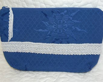 Blue fabric POUCH