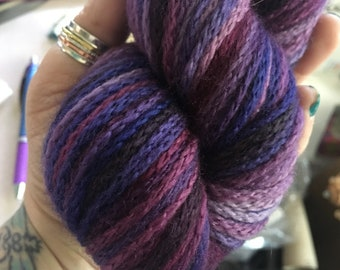 Faded Berries - Nebula Yarn - Ready to Ship - DK Weight - Chained Yarn