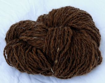 Skein of handspun wool yarn, two ply,  from Skudde sheep