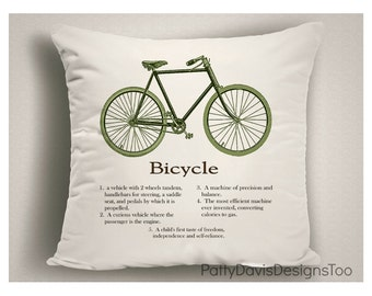 Gifts for Bicycle Lovers, Bicycle Gifts, Bicycle Decor, Throw Pillows With Sayings, Pillow Covers, Decorative Throw Pillows, Bicycle Art