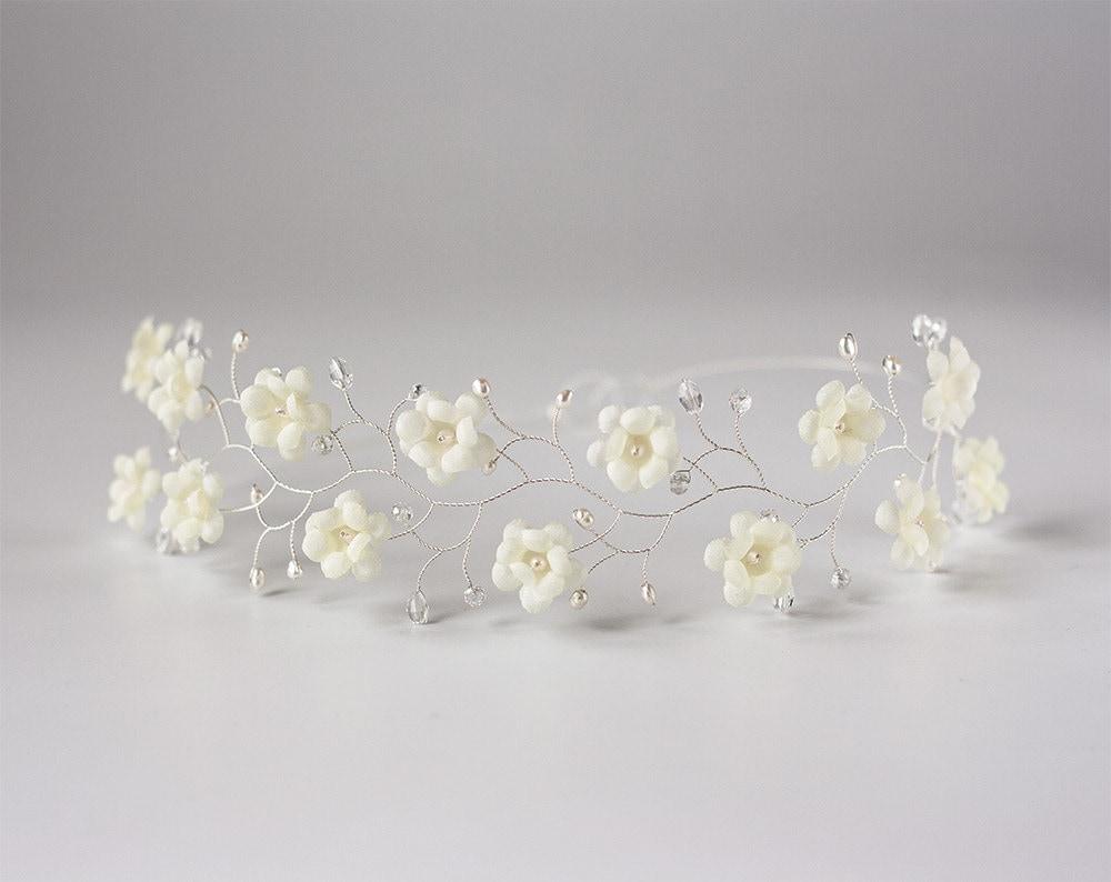51bridal hair accessories flower crown pearl bridal hair zoom izmirmasajfo