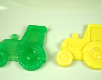 25 TRACTOR SOAP FAVORS {25 Favors} - Transportation Birthday, Tractor Baby Shower, Construction, Farm Party, Birthday Party Soap Favors