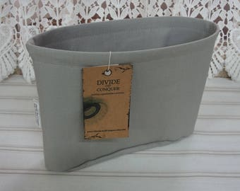 9.5 x 2.5 x 7H extra tall slim oval / Ready to Ship / Purse ORGANIZER Insert Shaper / GRAY / Sturdy & Durable / Interior pockets only