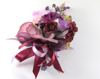 Radiant Orchid Corsage or Boutonniere in Purple, Violet and Lavender (BTN.1302.13)