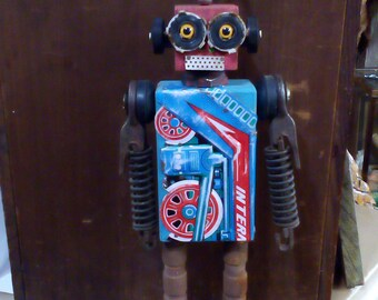 Plan 9 Robots By Outsider Artist Kent Greenbaum Folk Art Robot R16 BUZZ