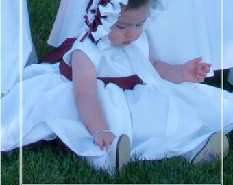 Ruffled Baby Bonnet Size Newborn - 36 months - Ellie Inspired bonnet PDF pattern
