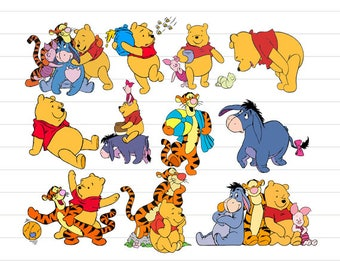 INSTANT DOWNLOAD - Winnie the Pooh Svg, Winnie Pooh Svg, Winnie the Pooh Clipart, Winnie the Pooh Character, Winnie the Pooh Decoration
