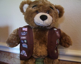 Build A Bear - Brownie Girl Scout Vest