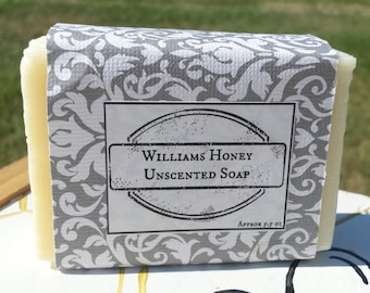Unscented Beeswax Cold Pressed Soap