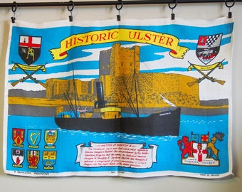 Souvenir Tea Towel Ulster Irish Linen Mountjoy II Travel Historical
