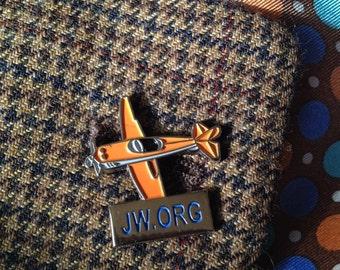 3.50/ea. Caleb Airplane JW.ORG Lapel Pins [LOT of 1]