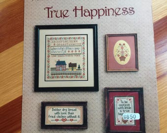 Cross Stitch Chart: The Cross Stitch Connection Presents...True Happiness