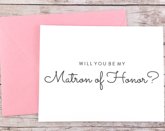 Will You Be My Matron of Honor Card (FPS0016)